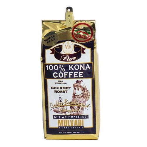 100%コナコーヒー WB(挽いていない豆) マルバディ(7oz 198g) ハワイコナコーヒー