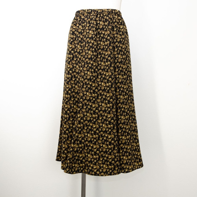 【ma couleur/マ クルール】フラワープリントマーメイドスカート(ブラウン)