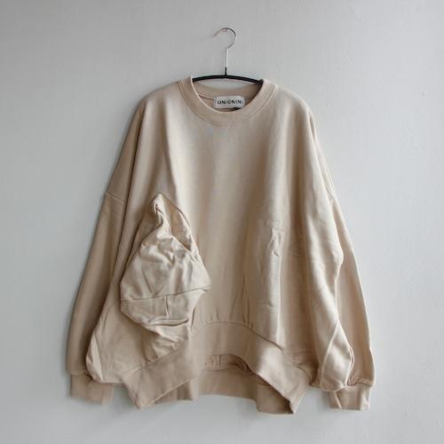 《UNIONINI 2021AW》◯△ sweat shirt / kinari / 大人S・M