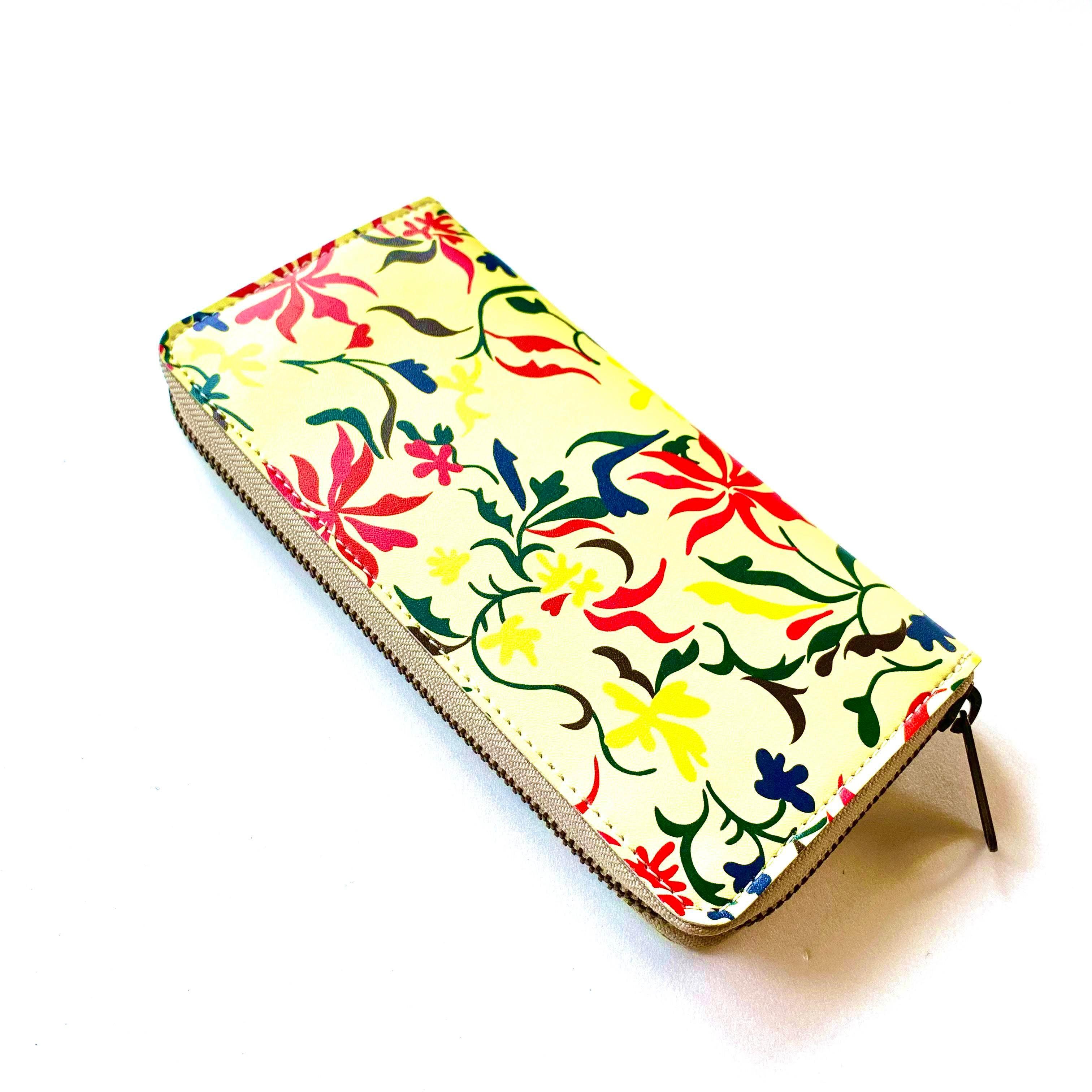 【ハシモト産業 x pink india】北欧デザイン 牛革ラウンド財布 | feather yellow