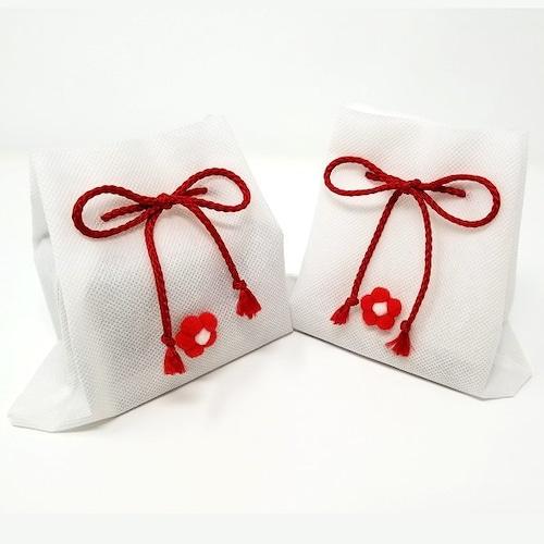 プレゼント梱包「巾着袋」(白)