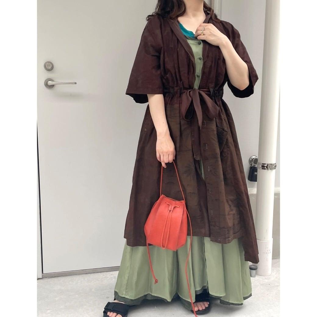 【RehersalL】 aloha gown (brown C)/【リハーズオール】アロハガウン(ブラウン C)