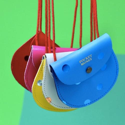 "Ark Colour Design ""Pocket Money Purse-Spots"" 本革 財布 小銭入れ"