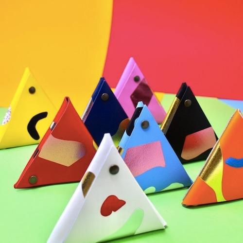 "Ark Colour Design ""ABSTRACT SAMOSA PURSE""本革 財布 小銭入れ"