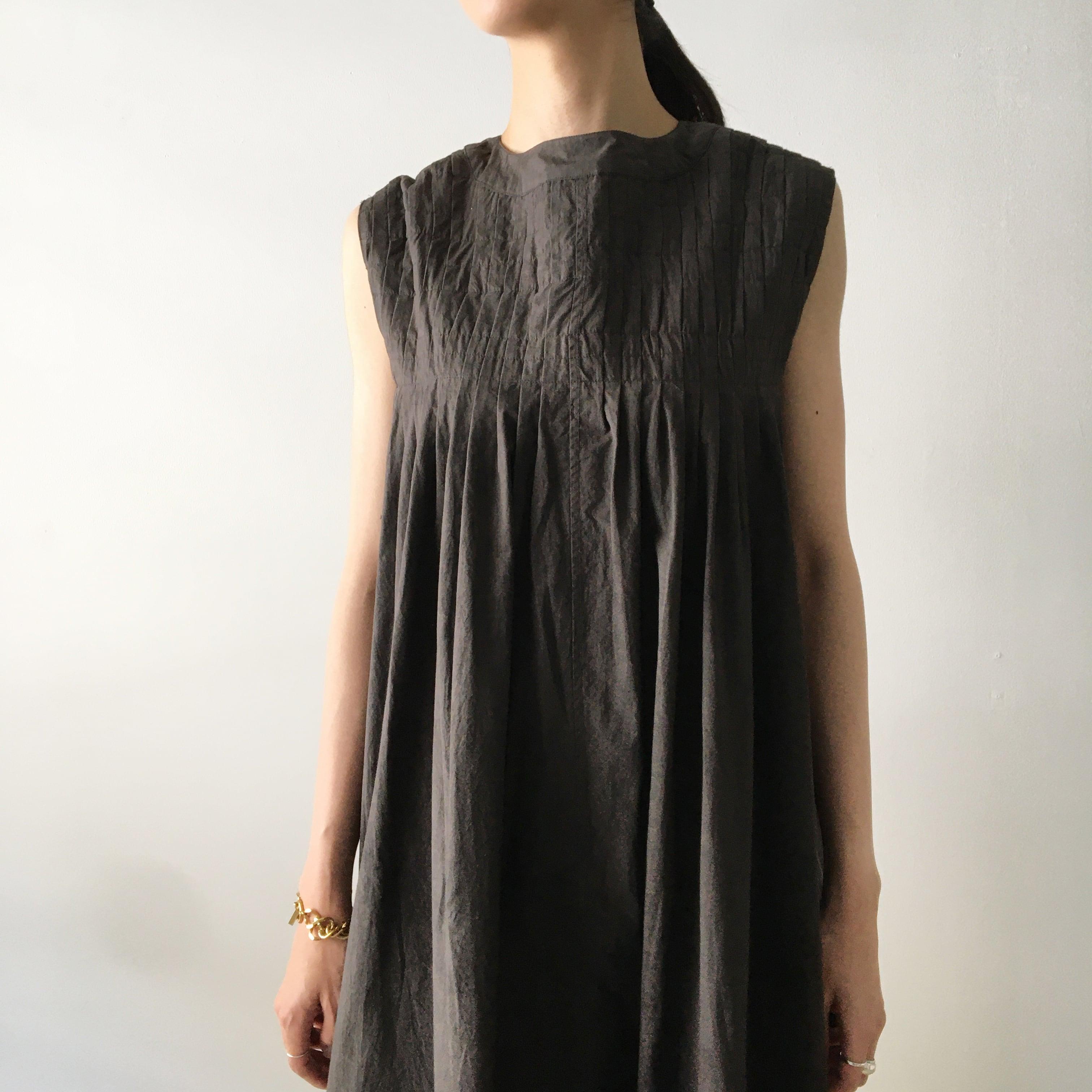 "Gather dress ""black kassis"" natural dyed, organic cotton"
