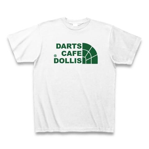 DOLLiSフェイスロゴTシャツ(白/緑)