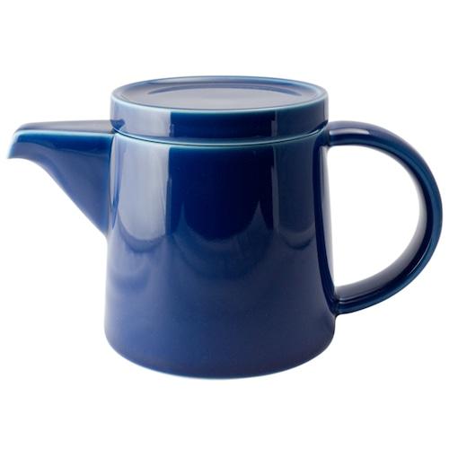 白山陶器 M型ポット ブルー