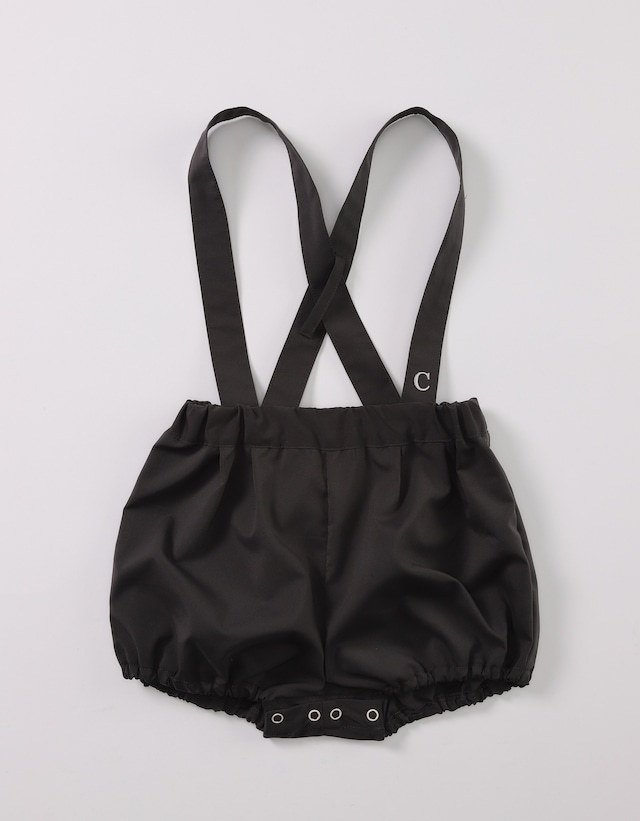 【ベビー服】サスペンダー付きブルマ / チャコールグレー / 70~80サイズ