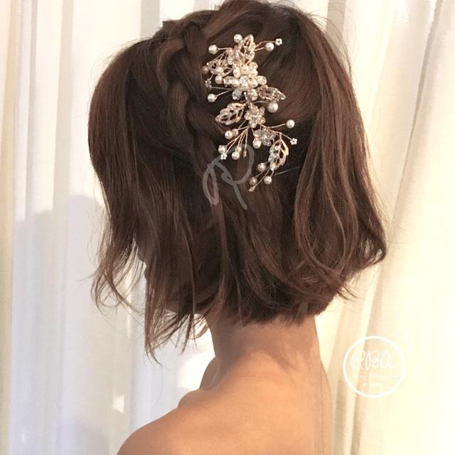 rba00033 ヘッドドレス 結婚式 ヘアアクセサリー 結婚式 お呼ばれ 2次会 ドレス 花嫁 ウェディングドレス パーティードレス アクセ  フォーマル パーティー 結婚式 女子会 成人式 同窓会