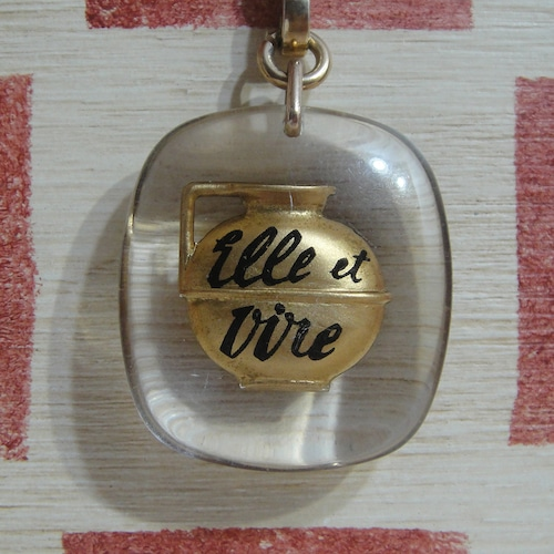 フランス Elle et Vire[エル・エ・ヴィール]乳製品メーカー ミルクピッチャー ブルボンキーホルダー