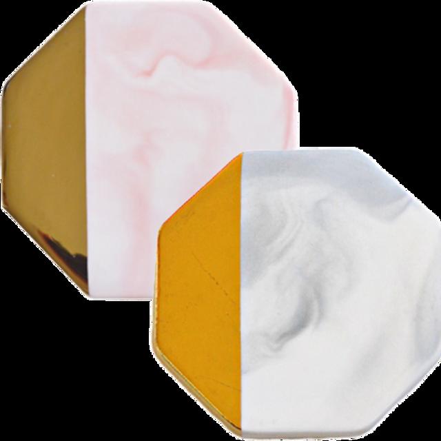 Marble  coaster  octagonal / 大理石コースター 八角