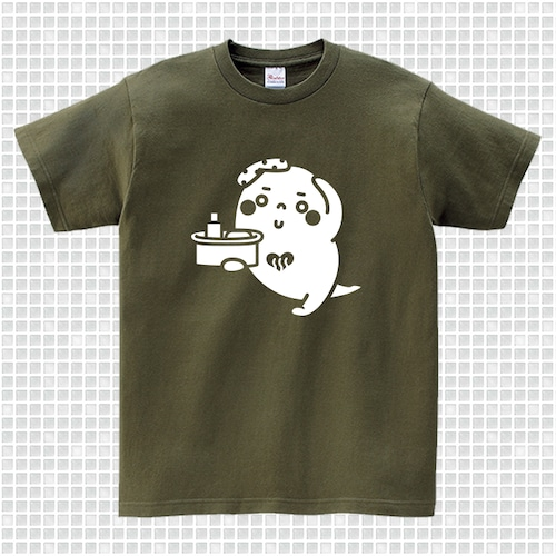 ゆっポくんTシャツ オリーブ