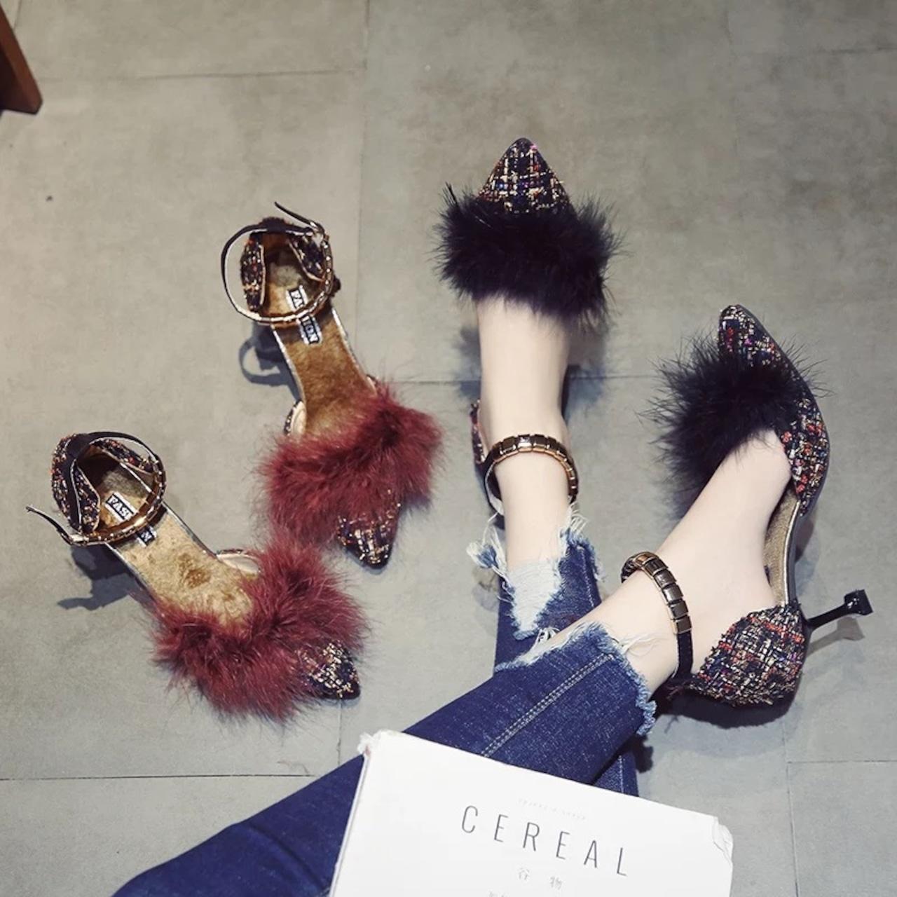 【即納】volume fur pumps