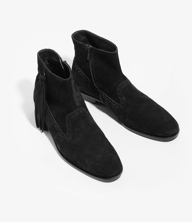 NEPCO FOOTWEAR / MEDALLION BOOT WITH TASSEL FRINGE(BLACK)
