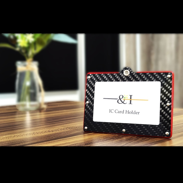 カーボン×本革 IC CARD HOLDER シンプルタイプ