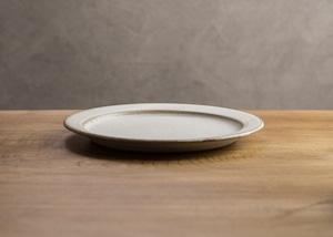 SHIROUMA  洋皿 21cm 白(中皿・リムプレート・メインディッシュ)/長谷川 哲也