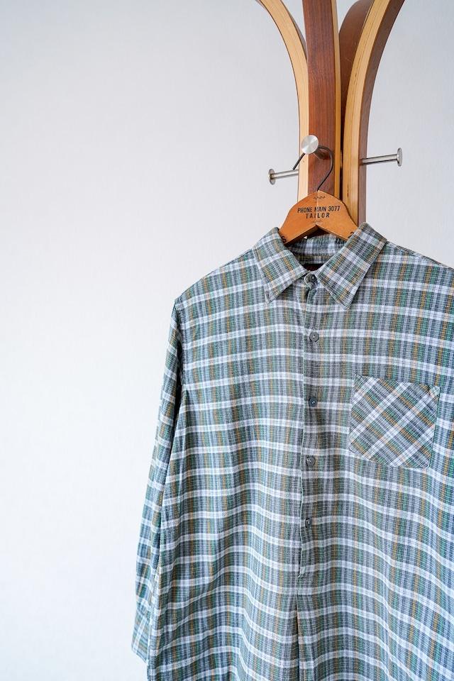 "【1950-60s】""Germany Made"" Euro Vintage Grandpa Shirts / v696"