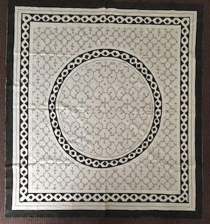 大判24 白 155x140cm AAA アマゾン・シピボの泥染め 円と蛇