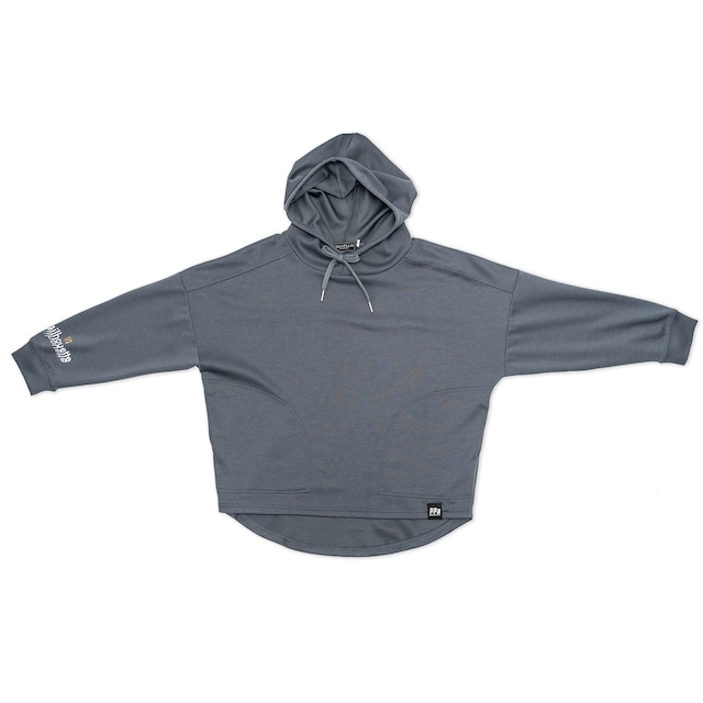 silhouette Jersey Wide Hoodie ブルーグレー