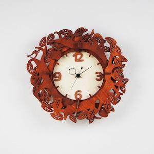 「森のひととき」木製掛け時計