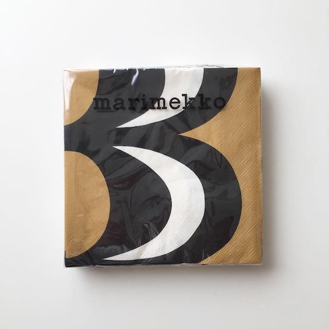 【marimekko】ランチサイズ ペーパーナプキン KAIVO ブラック×クリーム 20枚入り
