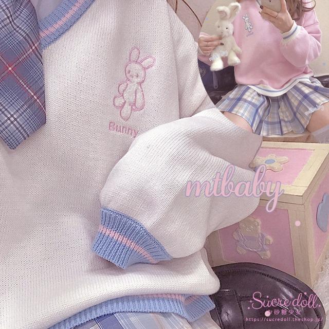 [2color] Bunny Pastel Knit