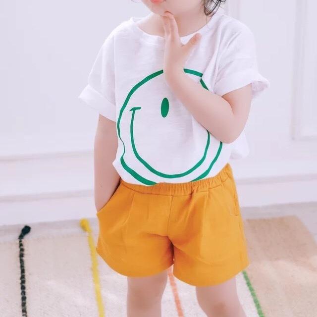 5color simpleショートパンツ マスタード【661】