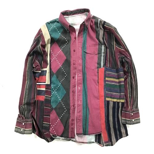 REMAKE  SHIRTS リメイクストライプシャツ【Shirts45】