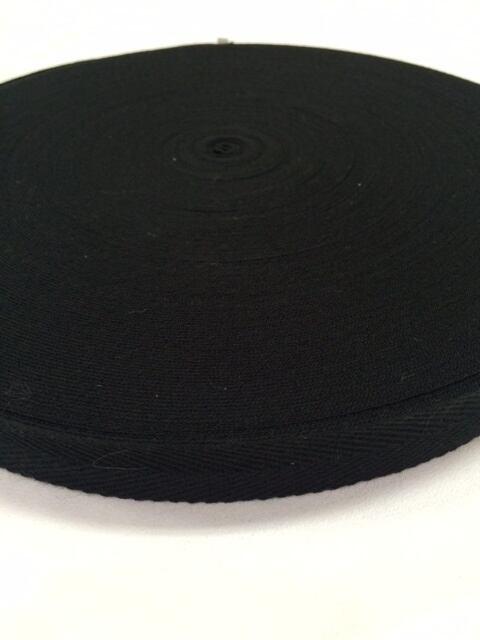アクリル 杉綾織(綾テープ) 25mm幅 1mm厚 黒  10m単位