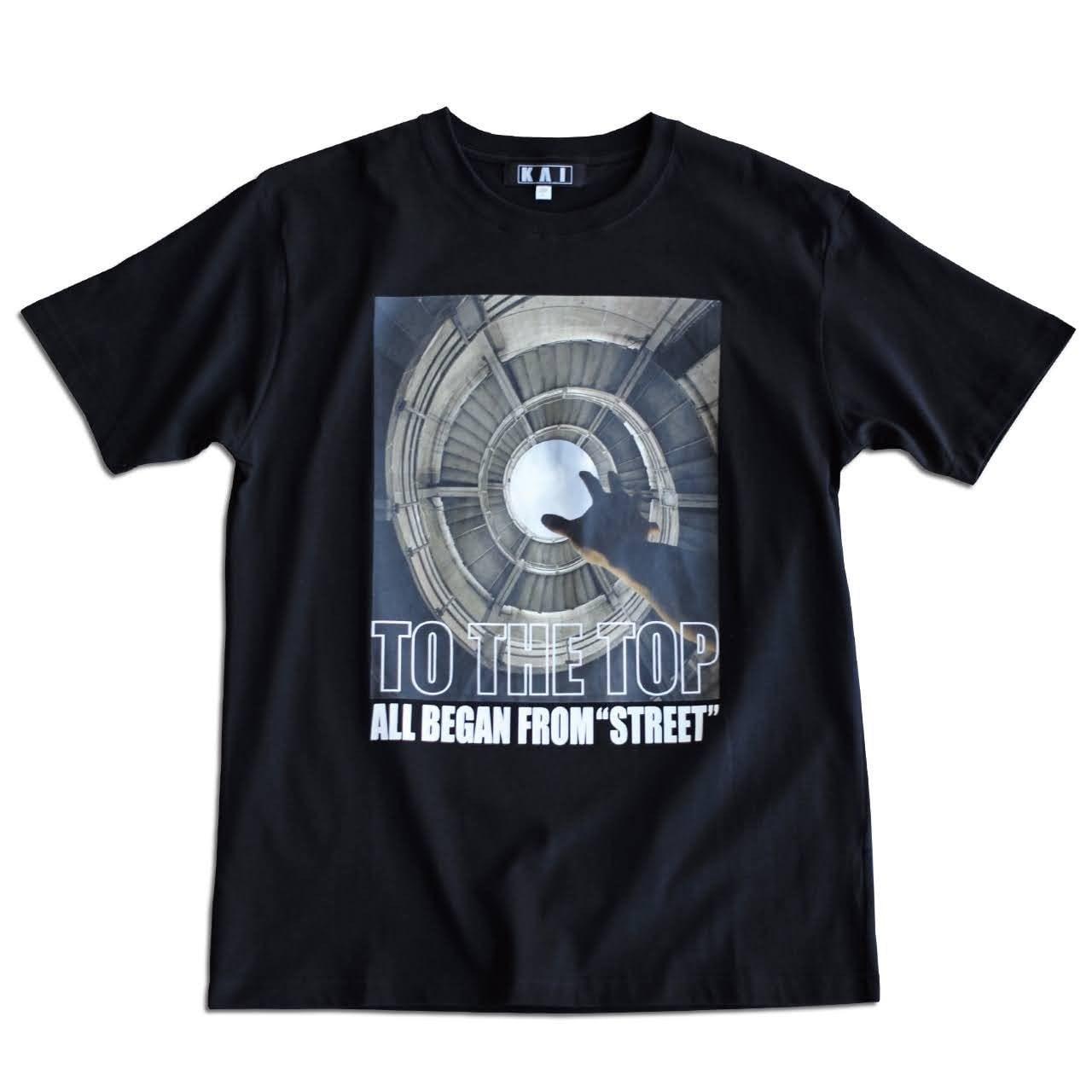 応援Tシャツ.TS04 Black
