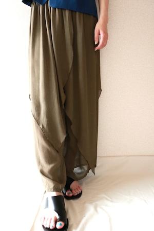 Vintage layered design pants