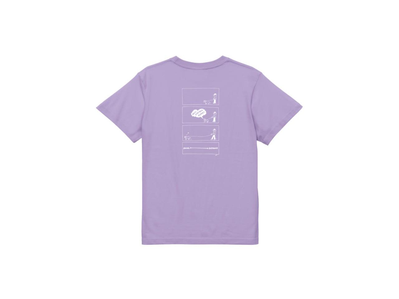 SHI x coguchi dog SD T-shirts (LB/WH)