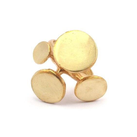 Raw brass Rings -   Platesリング  RG-014
