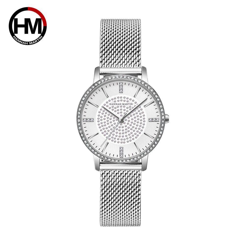 女性用時計フルダイヤモンド日本製クォーツラインストーン腕時計高級女性用ドレス時計RelogioFeminino Drop Shipping1074WY