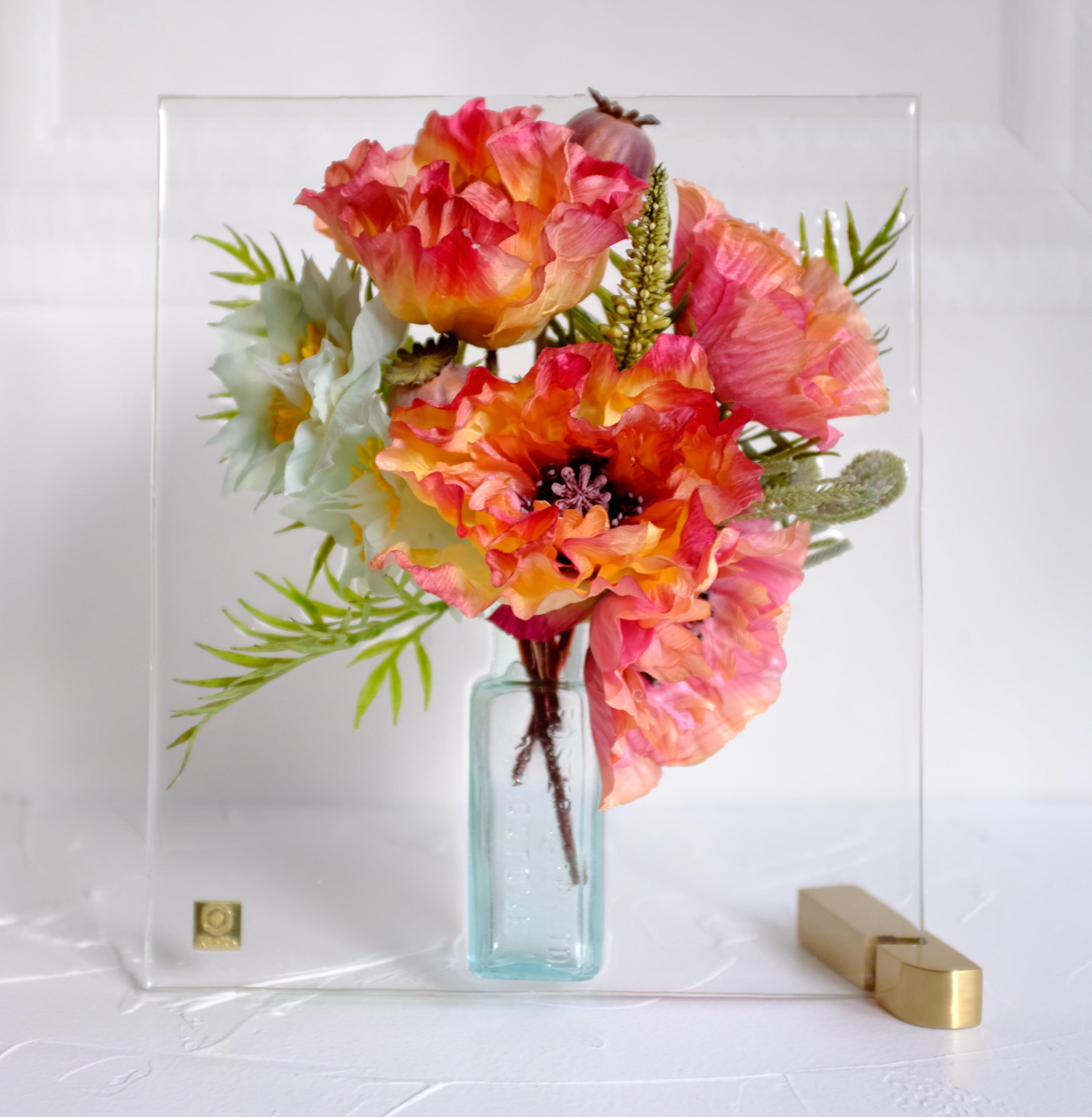 sumika M ポピー オレンジ アンティーク花瓶シリーズ