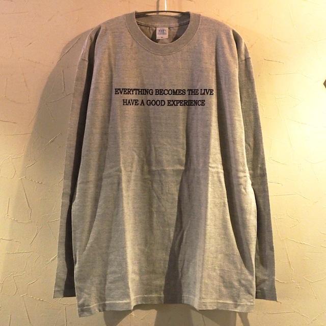 【一点物】Everything becomes the live Long Sleeve Gray XLサイズ