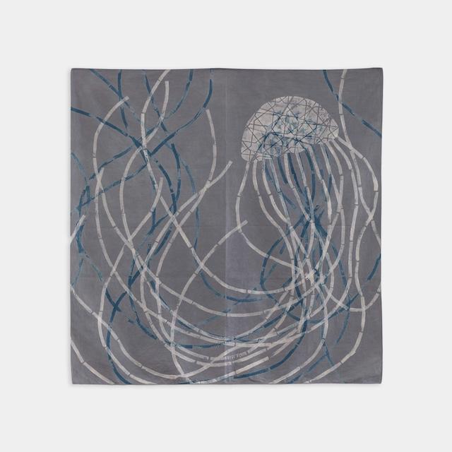 Shiori Mukai Textile 003 向井詩織 ブロックプリント 約90×87cm