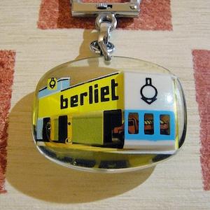 フランス berliet[ベルリエ]動くトラック広告ノベルティ ブルボンキーホルダー