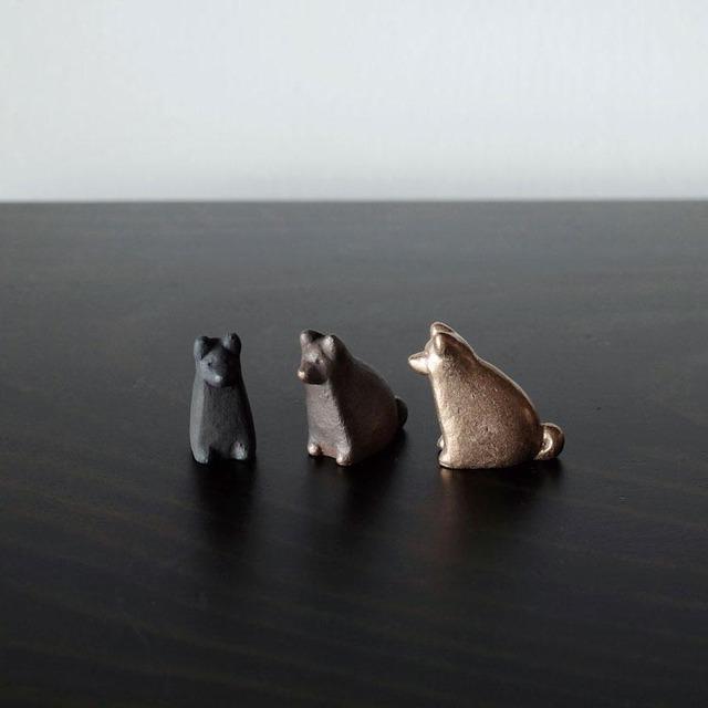 福いぬ 十二支【 大寺幸八郎商店 】 肌(ゴールド)、茶、ブラック 置物、干支
