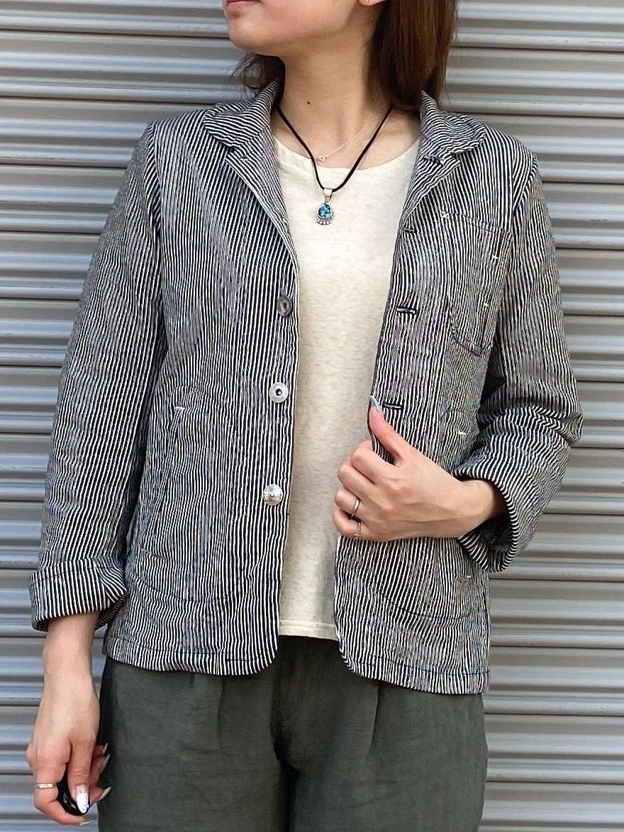 【ONEWASH】ストレッチヒッコリーワークジャケット