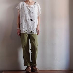 Cut work Lace Shirt / カットワーク レース シャツ