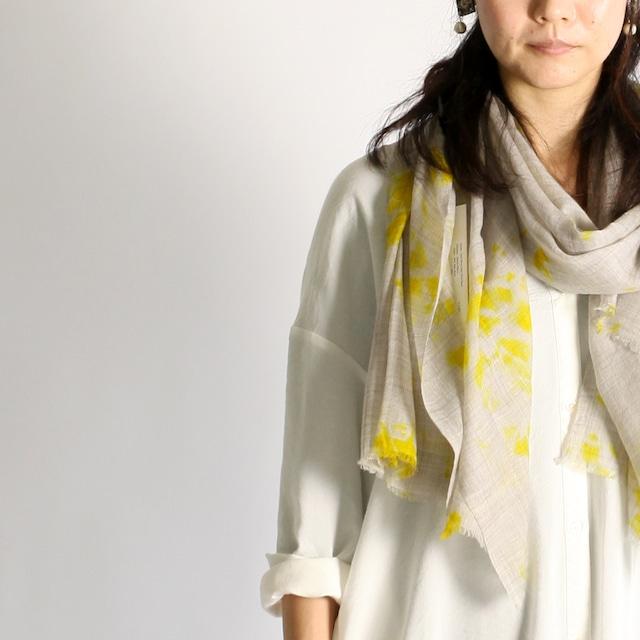 Hand Woven Baby Wool Madara Shibori ベビーウール ショール #4014[ suzusan ]