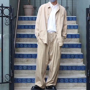 .Y's for men YOHJI YAMAMOTO SILK BREND COTTON EASY PANTS SET UP MADE IN JAPAN/ワイズフォーメンヨウジヤマモトシルク混コットンイージーパンツセットアップ2000000054353