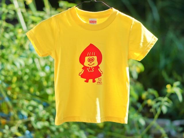 トマずきんちゃんTシャツ☆90~140cmサイズ☆子ども用☆オーダー商品☆綿100%☆手刷りTシャツ