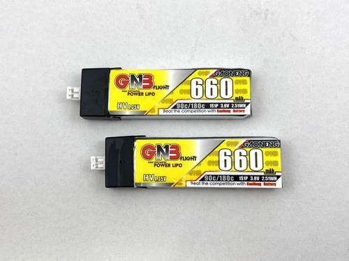 2個セット特価NH2139◆ガオニンGNB HV 660mAh 90-180C 1S 3.8V サイズ7.8×18×58mm 15.5g