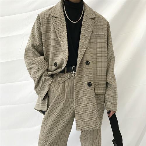 チェックビッグジャケット(セットアップ) BL4114