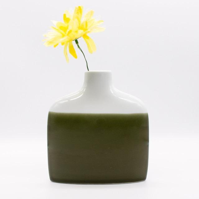 【限定1点 アウトレット品】波佐見焼 family vase 花瓶 F グリーン 253028 豆豆市200