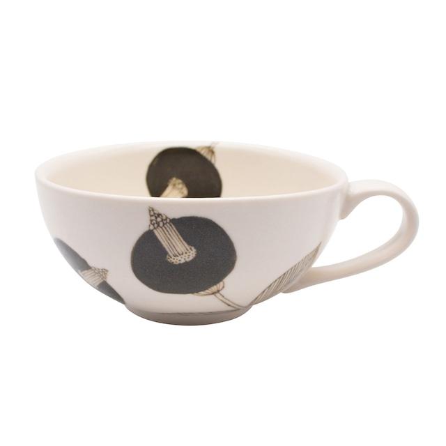 砥部焼 すこし屋 スープカップ 390ml ブラウンフラワー 229022