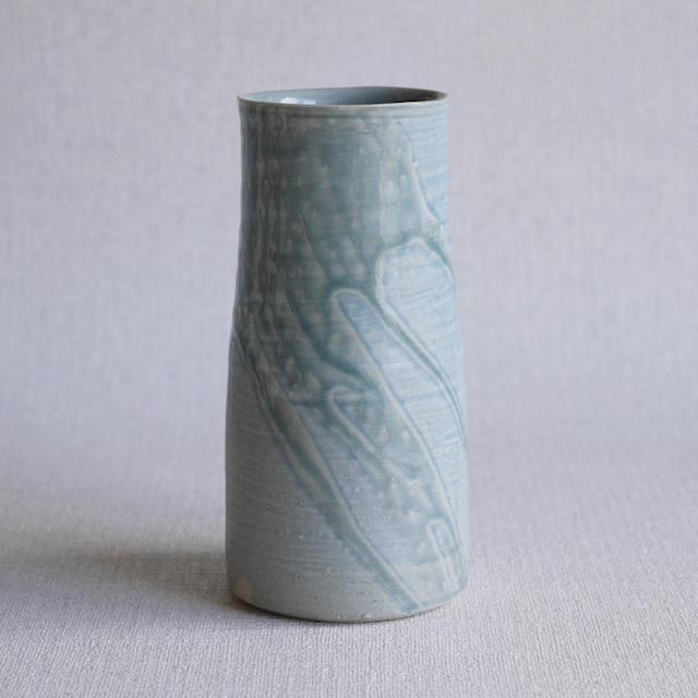 釉彩花器Blue ①