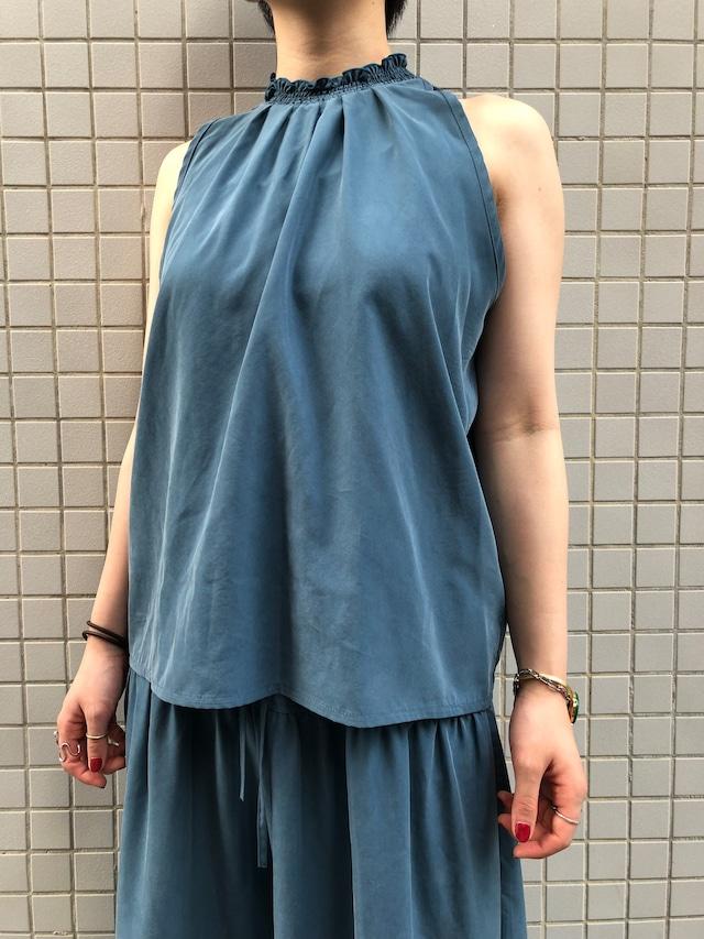 CaNARi original blouse(Black.Smoky Blue)